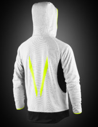 VX360 – Mens Reversable Jersy Mesh Full Zip Hoodie with lights – BACK – white